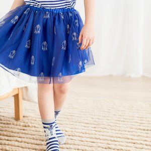 Star Wars Hanna Andersson Blue Tulle Skirt Size 4T